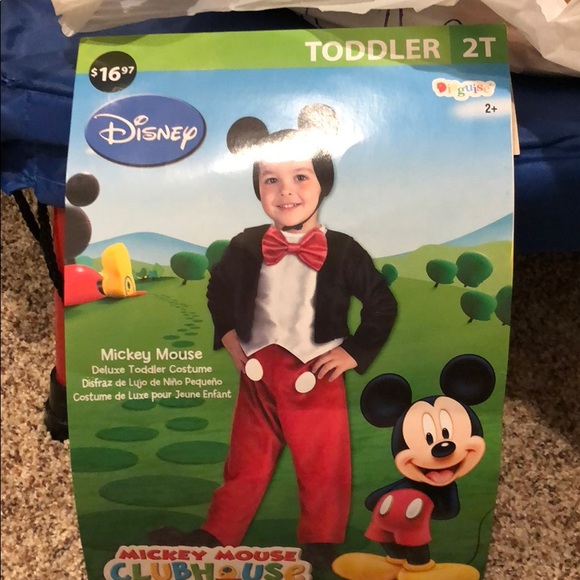 costumes toddler mickey mouse costume 2t poshmark toddler mickey mouse costume 2t